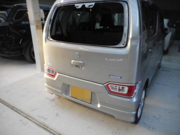 神戸市 スズキワゴンR リアドア ヘコミ修理